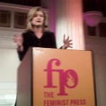 Arianna Huffington accepts Feminist Press award