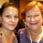 Finland President Tarja Halonen & Lauren Hick