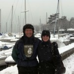 Jerry & Nadine Lutry harbor snow