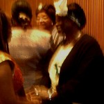 Liberia President Ellen Johnson-Sirleaf &  Nobel Peace Laureate Wangari Maathai of Kenya greeting people