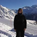 Nadine hiking in Verbier Swiss Alps